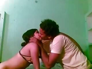 Naughty Bengali young wife bends over for her hubby